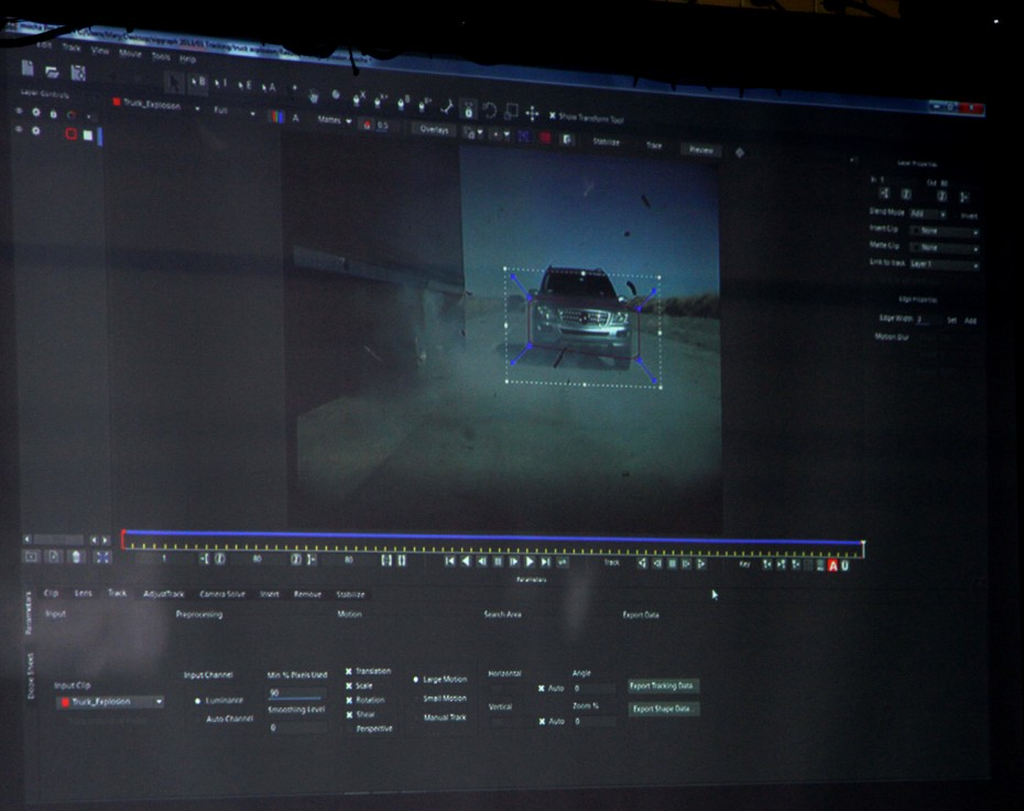 Screenshot of mocha Pro.