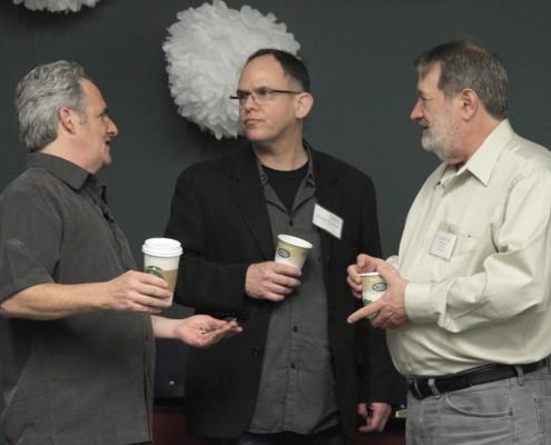 Aron Ranen discusses audio with CAS members