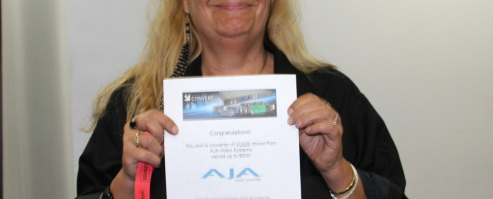 Longtime LAPPG member Monica F. P. Williams scored an AJA coverter of her choice.