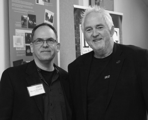 Woody Woodhall with LAPPG Member Bruce Logan, ASC