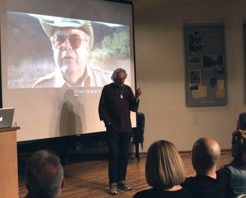 Actor Larry Hankin shares a clip from his film