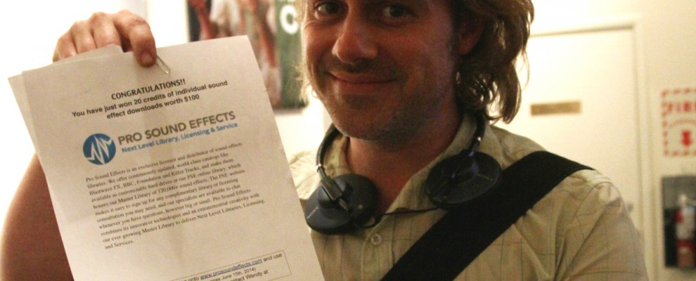 Geoff van Maarten wins a Pro Sound Effects certificate.