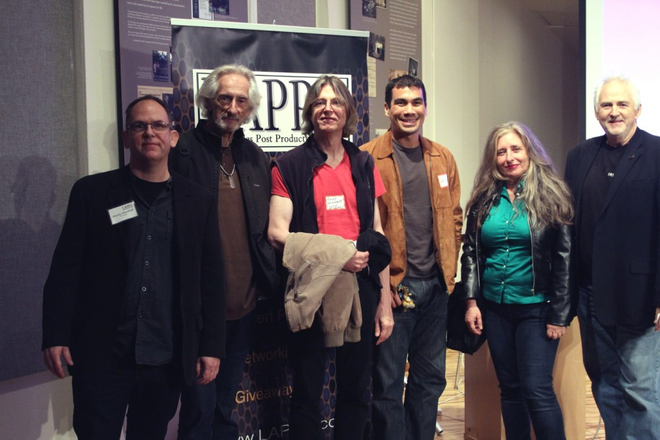 Woody Woodhall with our fabulous group of LAPPG member showcase participants including Larry Hankin, Randy Vandegrift, Braydon Yoder, Cynthia Biret and Bruce Logan, ASC.