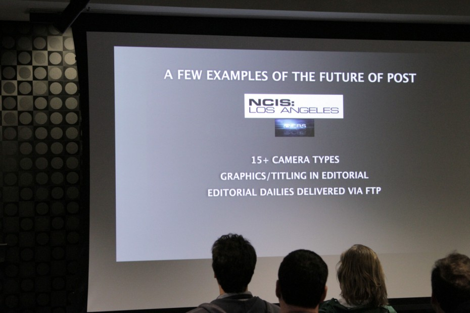 The group is privy to great examples using NCIS Los Angeles footage.