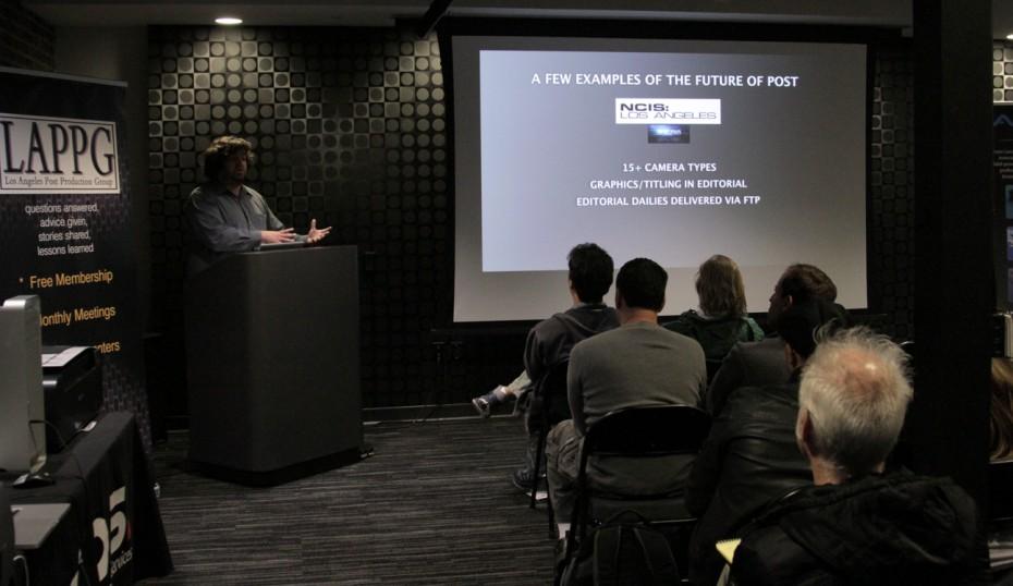 DigitalFilm Tree's CTO Guillaume Aubuchon begins his presentation.