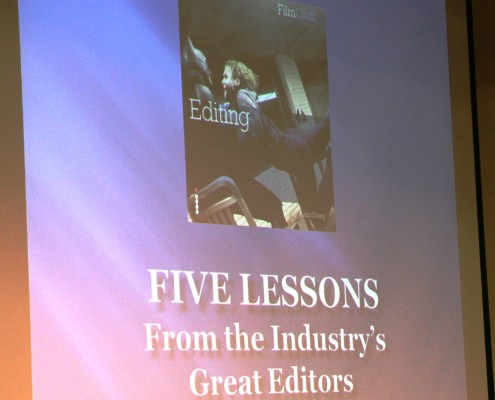 Justin Chang based his presentation off his book ,FilmCraft: Editing from Focal Press.