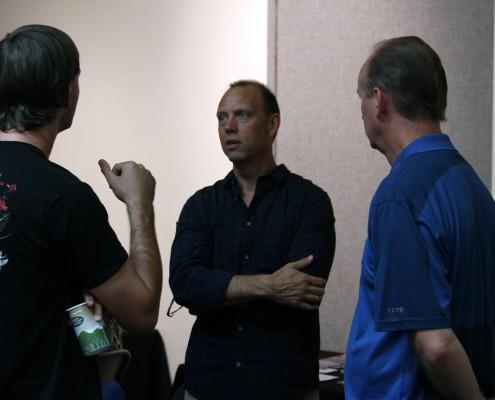 Alex Dow and Zax Dow speak with LAPPG members.