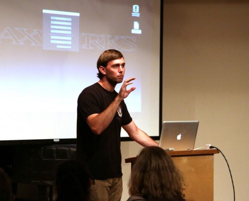 Alex Dow has an answer for all our questions and entertained the group while he was at it!