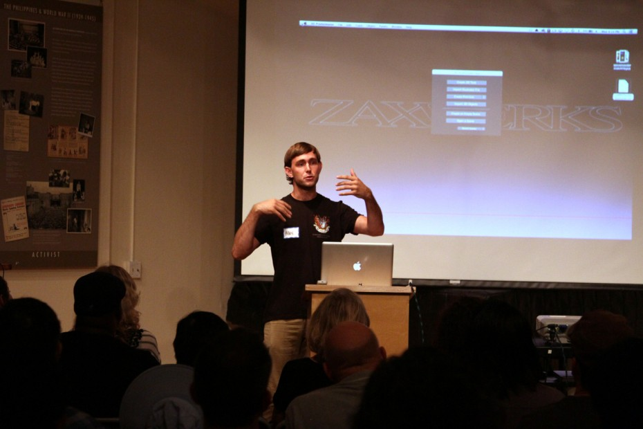 Alex Dow of Zaxwerks was very animated sharing 3D ProAnimator 8 with the group.