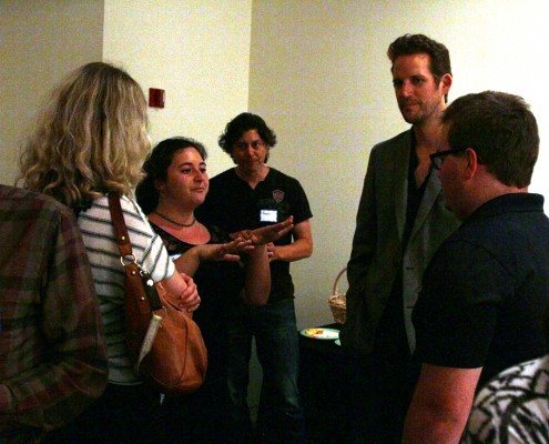 New LAPPG member Jazmyn Whiman shares a story while networking during breaktime.