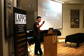 Kevin speaking at LAPPG
