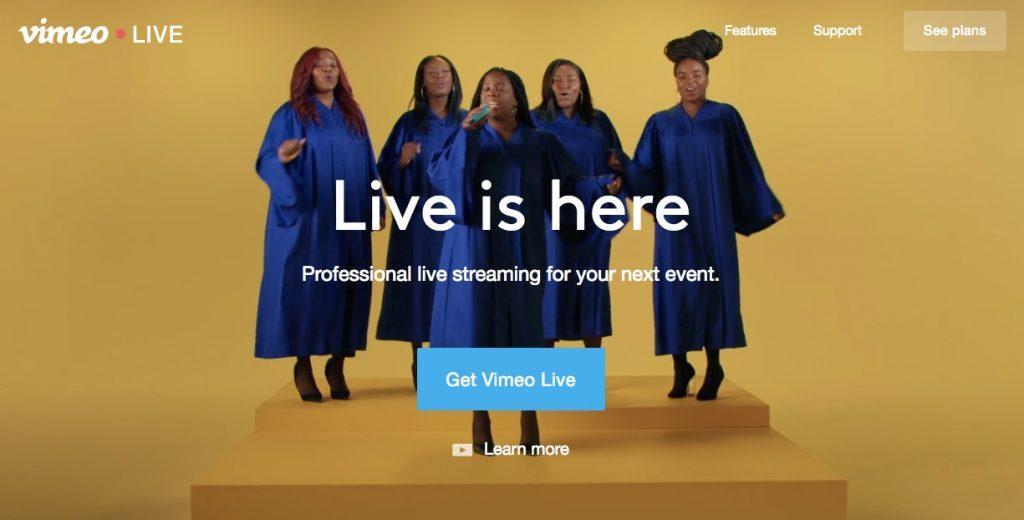 vimeo live streaming