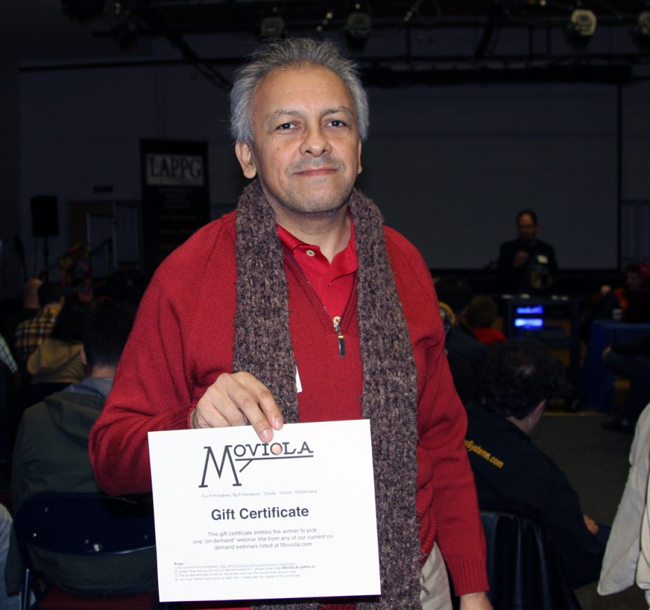 LAPPG member Ricardo Silva won a Moviola Webinar of his choice.