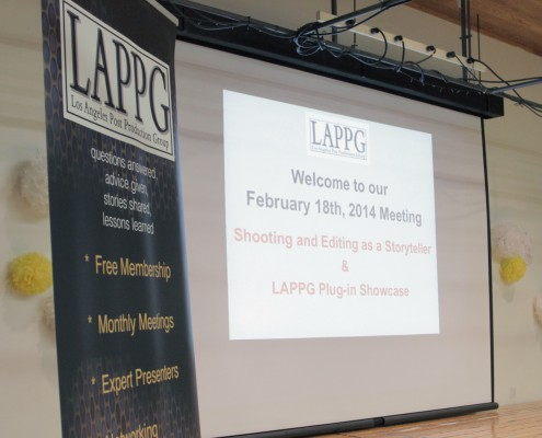 Networking with the presenters.     LAPPG member