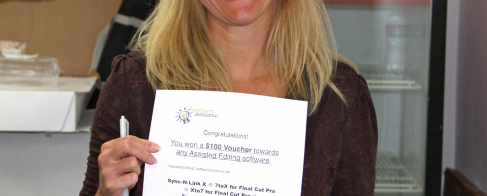Big LAPPG supporter, Megan Oldfield wins $100 voucher towards Assited Editing software.