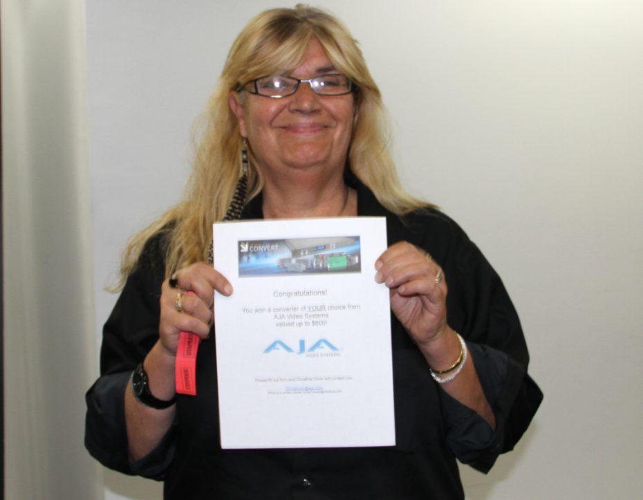 Longtime LAPPG member Monica F. P. Williams scored an AJA coverter of her choice.