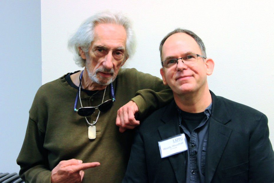 Actor Larry Hankin with Woody Woodhall, CAS