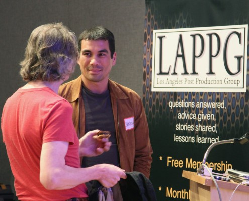 Two of our talented LAPPG member showcase participants, Randy Vandegrift and Brayden Yoder take time to connect.