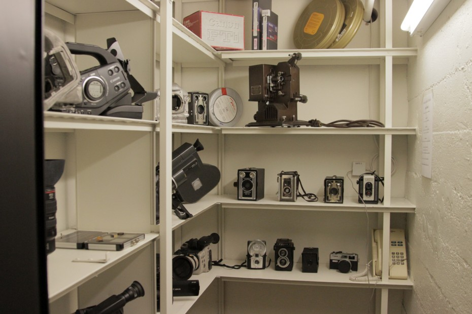 A peek into history at the Canon Hollywood Professional Center.