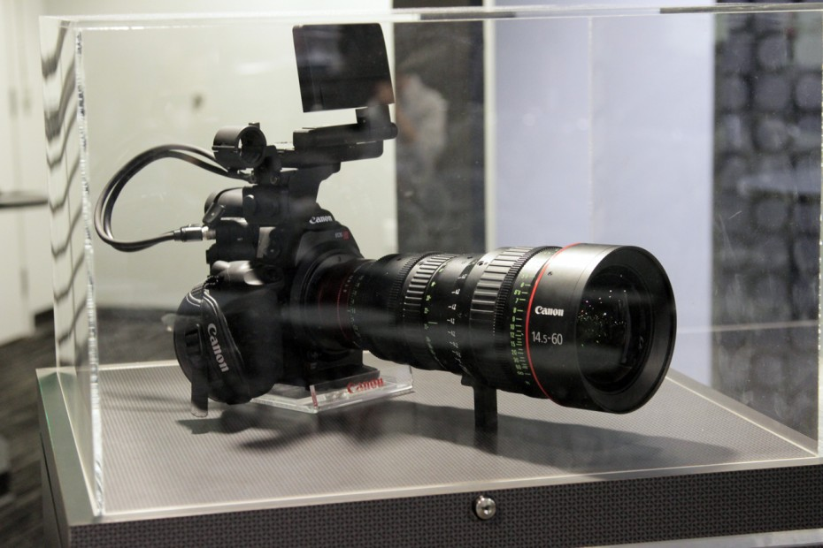 A Canon Camera on display.