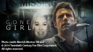 Gone girl with caption