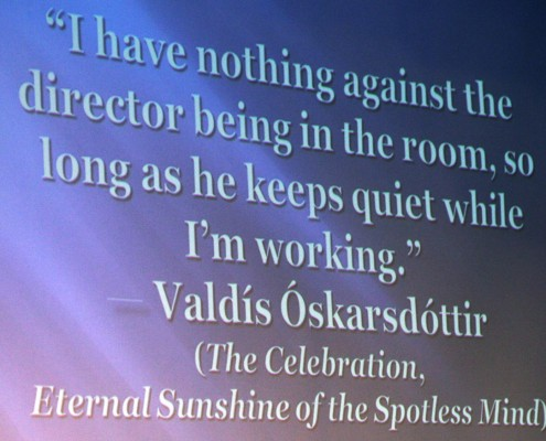 This quote got quite a chuckle from the audience!