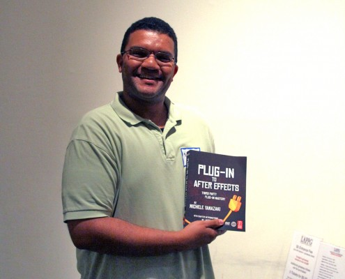 "Longtime LAPPG member Wellington Harrison wins Focal Press book ""Plug-in to After Effects"" by Michele Yamazaki Terpstra."