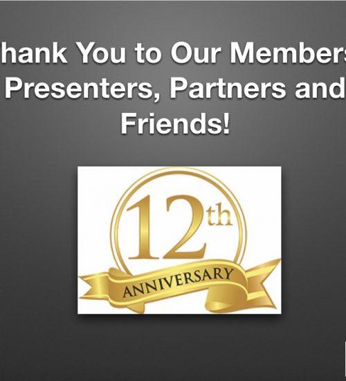 12th Anniversary slide